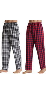 2 Pack Mens Cotton Pyjamas Bottoms