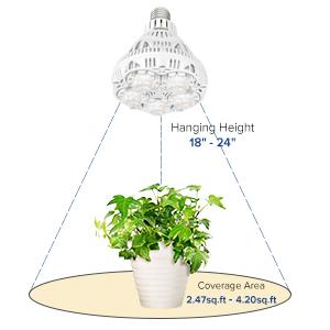 LED full spektrumlampa led växande glödlampa växt ljus sansi växa ljus