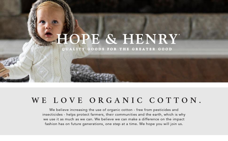 hope Henry baby layette organic cotton young kids boy girl little newborn gift shower