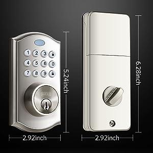 smart door lock with keypad