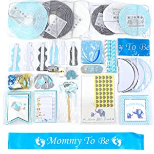 1st birthday party boy party kit baby shower lantern fan honeycomb mommy to be sash glitter woodland