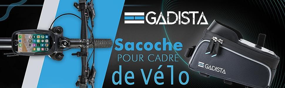 GADISTA® France, Sacoche Cadre de Velo pour téléphone Tactile avec ou sans Touch ID