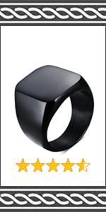 BLACK BIKER RING