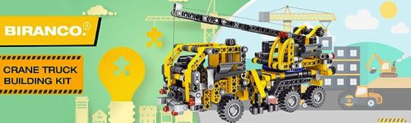 BIRANCO. Crane Truck Building Kit
