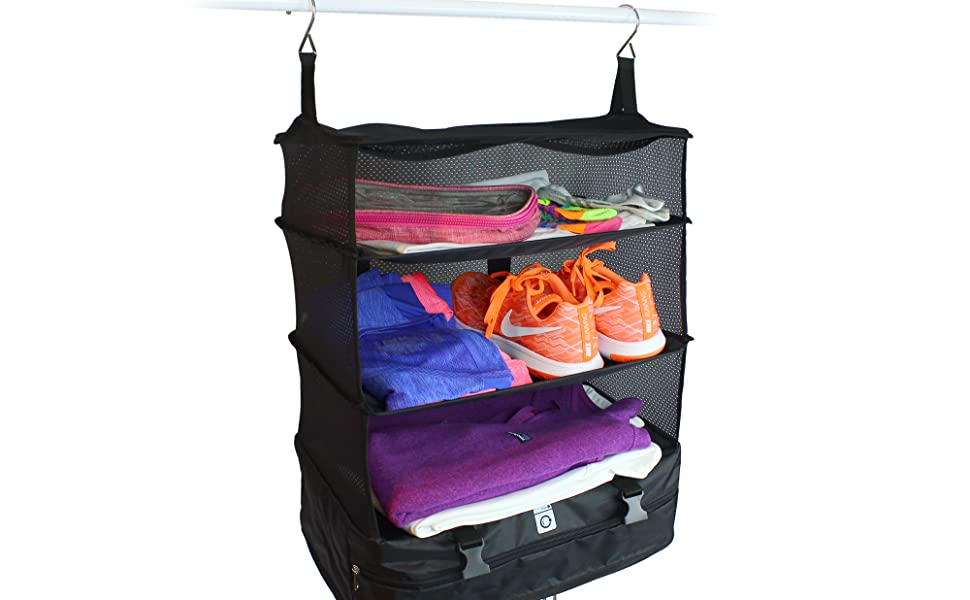 stow n go hanging travel shelves