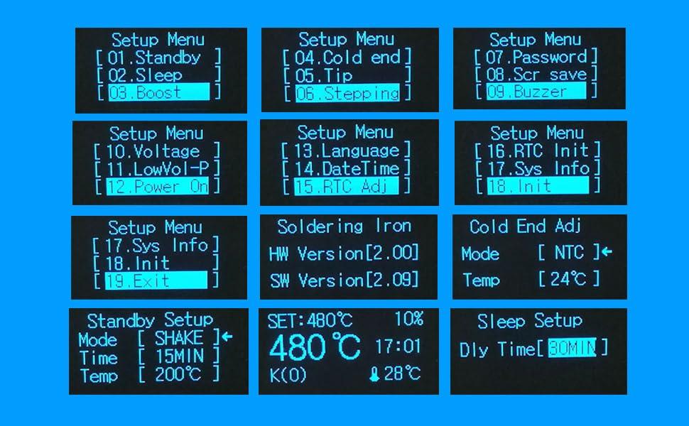 estaci/ón 60 W, 220-480 /°C, 5 Puntas, Bomba desoldadora, Soporte, Kit de Soldadura Fino para Herramientas el/éctricas, 60W TOPELEK GEDS022AHEU-DE Juego de Soldador 9 en 1