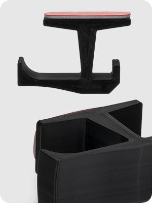 big j headphone hanger under desk with cable storage black twin pack