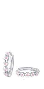 flower hoop earrings for girls