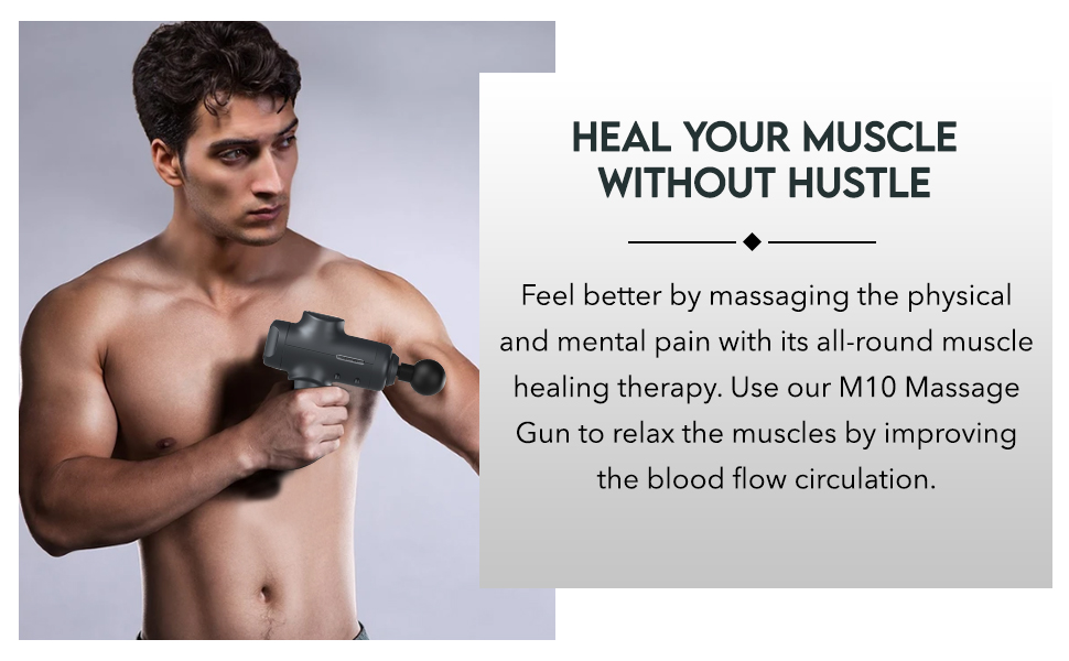 Our massage gun improves blood flow circulation