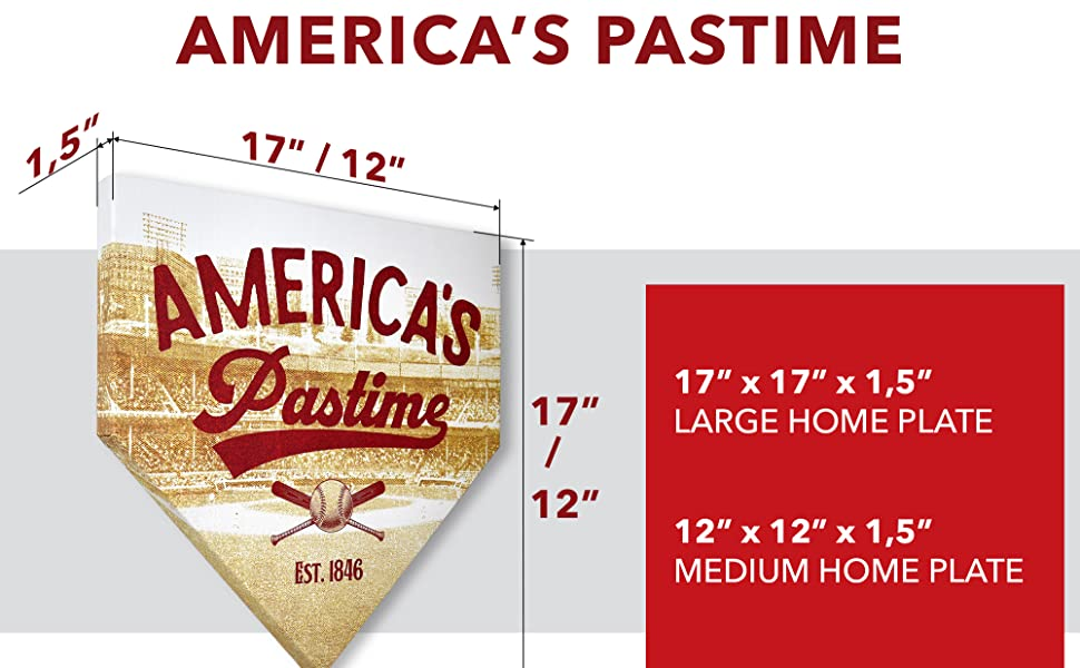 Sizes of home Plates Canvas Wall Art