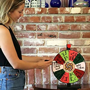 Prize Wheel with writing