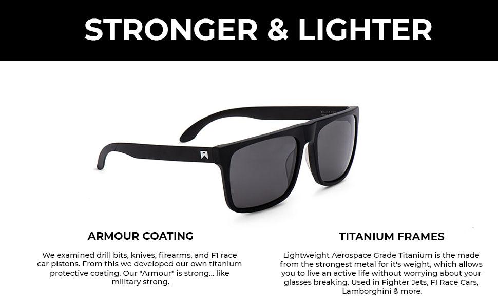 titanium frame sunglasses