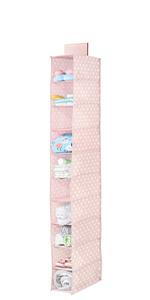 10 Shelf Fabric Kid Hanging Closet Nursery Organizer Shoe