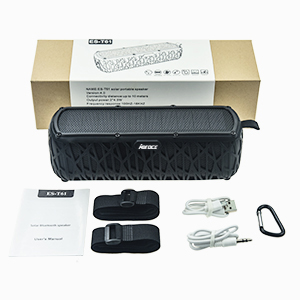 7  ABFOCE Solar Bluetooth Speaker Portable Outdoor Bluetooth IPX6 Waterproof Speaker with 5000mAh Power Bank,60 Hours Play Time Dual Speaker with Mic, Stereo Sound with Bass Home Wireless Speaker-Black 0fa8c7ef 5fe1 4ba4 8d9d b9c0f6d0325a