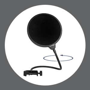flexible pop filter
