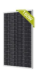 newpowa 160w solar panel monocrystalline