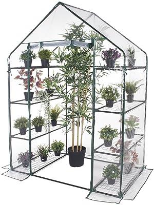 Verdelook, serra, casetta, 8 ripiani, orto, giardino, PVC, trasparente, facile