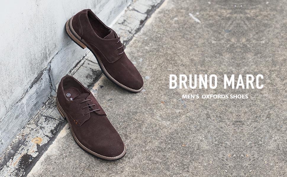 Bruno Marc Chaussures Habill/ées en Daim pour Hommes Oxfords /à Lacets