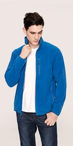 fleece jacket men work jacket outdoor sweater winter jacket coat thick thin full zip non hooded