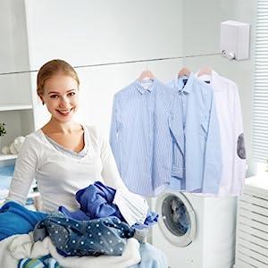 Retractable clothesline heavy duty