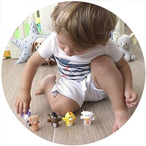 aeioubaby fingerdockor baby pedagogisk leksak