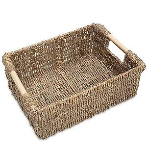 Medium Low seagrass basket wicker