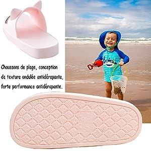 Chaussons Enfants Pantoufles Fille Claquettes Chaussures de Plage Gar/çon Chaussures pour Piscine Antid/érapant Pantoufles de Bain Douche Chaussons Mules Tongs A-Rose EU 35-36= Fabricant 36-37