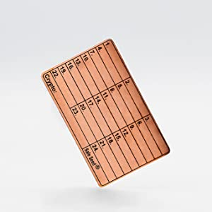 Safe Seed Copper Stamp Plate