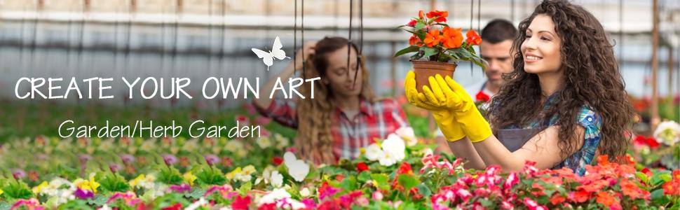 create your own art garden/herb garden