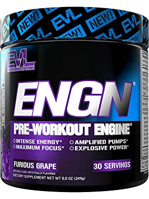 Amazon.com: Evlution Nutrition ENGN Pre-Workout, Pikatropin-Free, 30  Servings, Intense Pre-Workout Powder for Increased Energy, Power, and Focus  (Furious Grape) : Health & Household