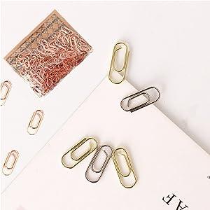 Rose Gold mini paper clips