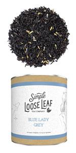 blue lady grey loose leaf tea