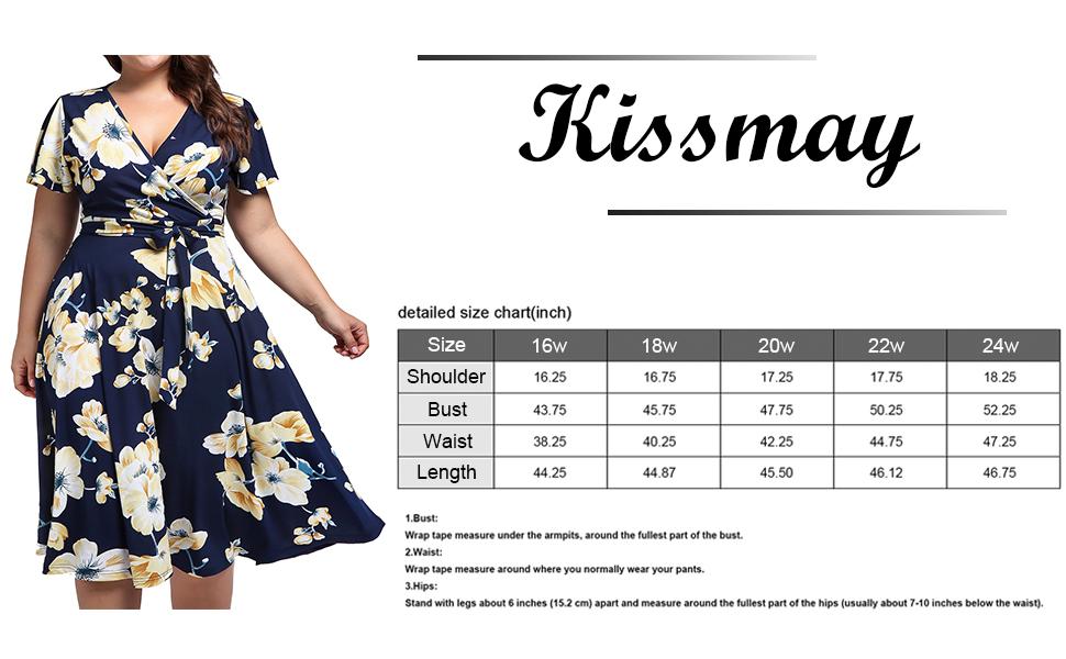 Plus size wrap dresses for women
