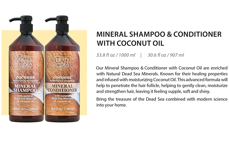 Mineral Shampoo and Conditioner with Coconut Oil