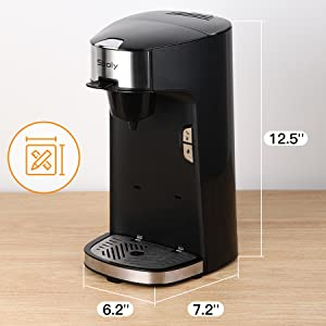 single cup coffee maker k cup compatible