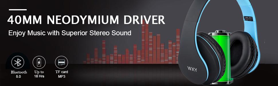 WXY Over Ear Bluetooth Headphones-EBC-2