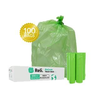 40-45 Gallon Trash Bags, 100 Bags