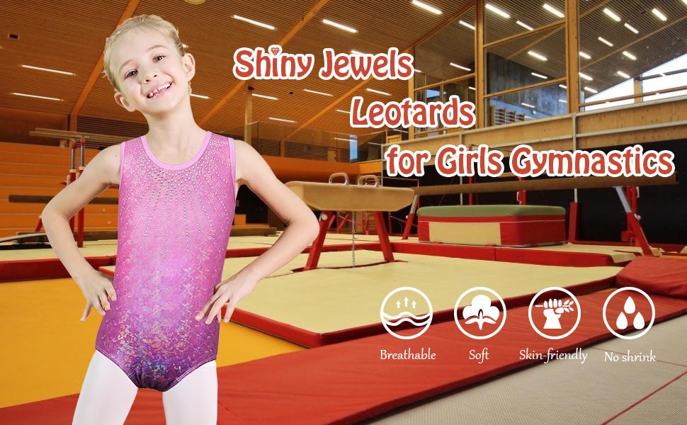 Gymnastics Leotards for Girls pink purple