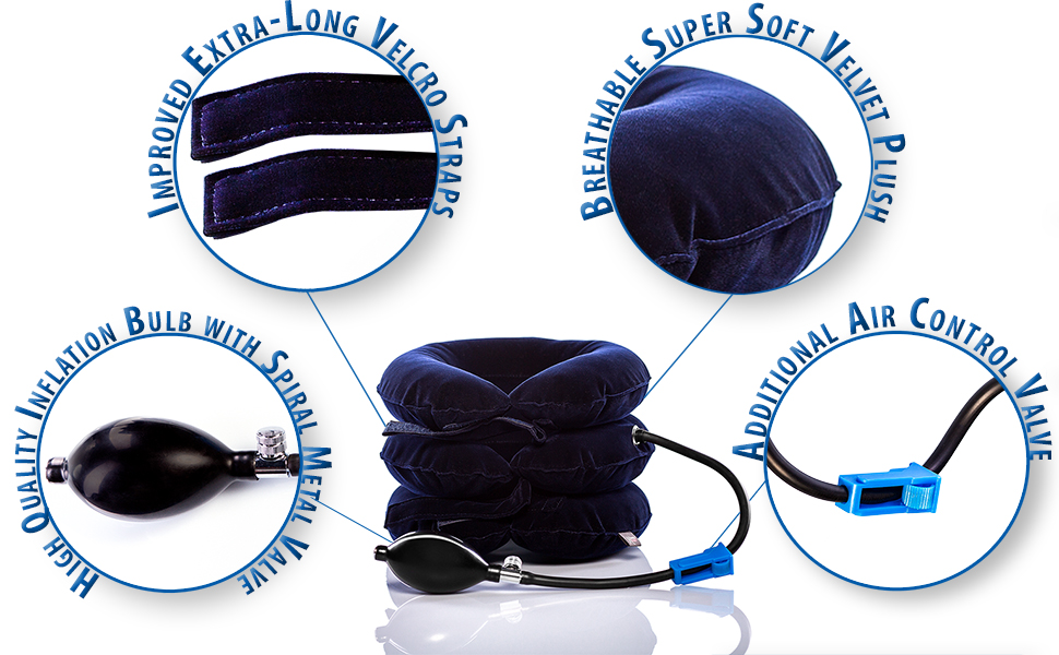 Pinched Nerve Neck Stretcher Cervical Neck Traction Device Home Neck Pain Treatment Injury Relief