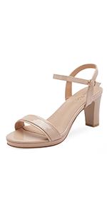 women chunky high heel sandals sexy