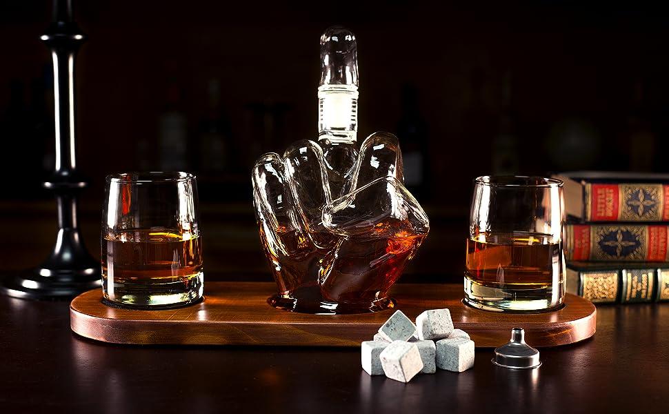 中指鸟威士忌Dec水器套装装瓶礼品白色大象酒盒