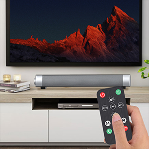 PC Soundbar,Wired & Wireless Bluetooth BT Computer Speakers with Remote Control