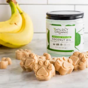 Pet treats made with coconut oil and banana