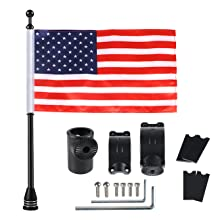 UTV FlagPole Holder 360° Adjustable Bracket Mount