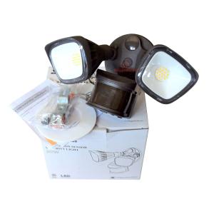 LED Motion Sensor Flood Light - White - 2400 Lumen - 270 Degree Sensor