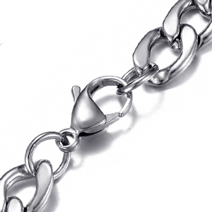 DonDon acero inoxidable colgante para hombre modern collar de cadena oro plata plateado elegante
