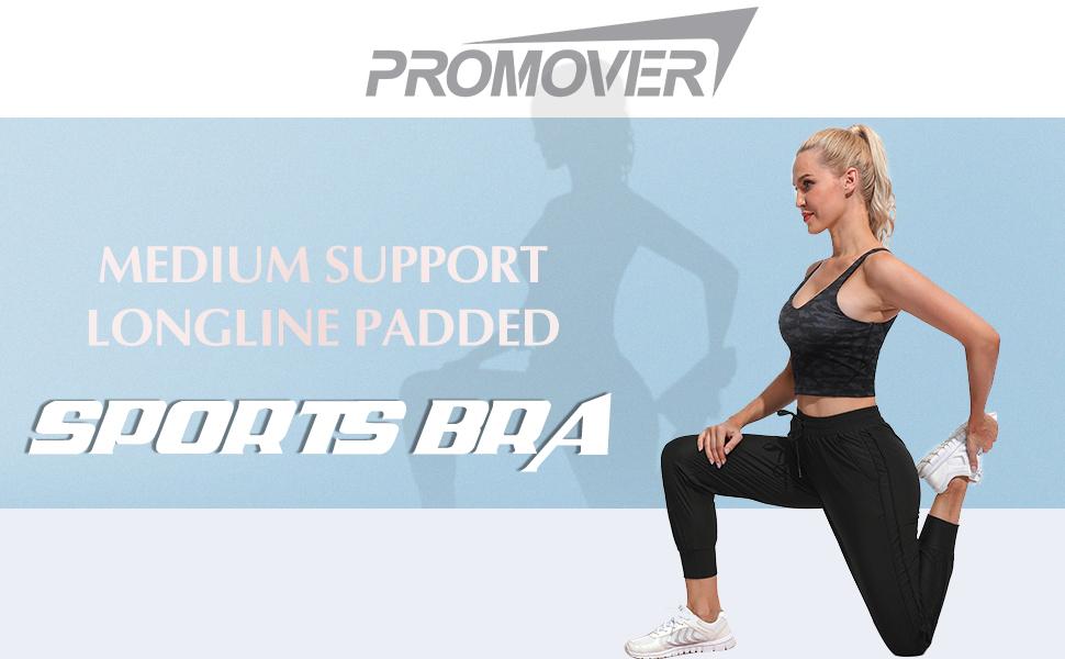 womens padded sports bra