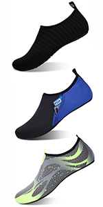 ASHION Chaussures de Sport Nautique Pieds Nus /à s/échage Rapide Aqua Yoga Chaussettes Slip-on pour Hommes Chaussures Aquatiques