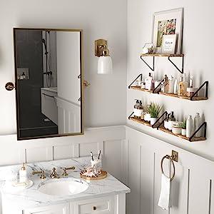 bathroom wall decor bathroom shelf bathroom accessories towel holder towel rack toilet paper holder