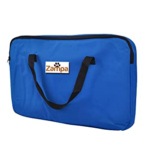 Zampa Foldable Pet Playpen for Dogs/Cats Portable, Exercise Kennel Blue